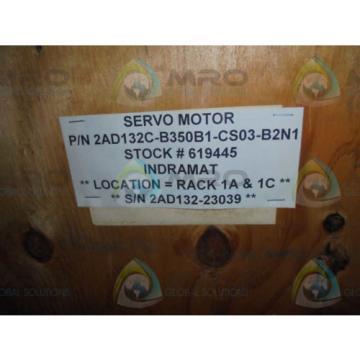 REXROTH Greece Greece 2AD132C-B350B1-CS03-B2N1 AC SERVO SPINDLE *NEW NO BOX*