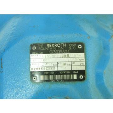 REXROTH Australia Korea AA10VS071DR*/30R-PKC62K03 USED HYDRAULIC PUMP AA10VS071DR30RPKC62K03