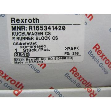 NIB Japan Italy BOSCH REXROTH LINEAR RAIL RUNNER BLOCK BEARING R165341420