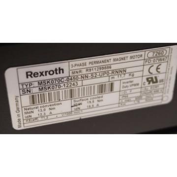 NEW France china BOSCH REXROTH MSK070C-0450-NN-S2-UPO-RNNN SERVO MOTOR MSK070C0450NNS2UPORNNN
