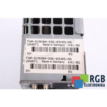 HDD02.2-W040N-HD32-01-FW Greece Japan FWA-DIAX04-SSE-03VRS-MS REXROTH ID27383