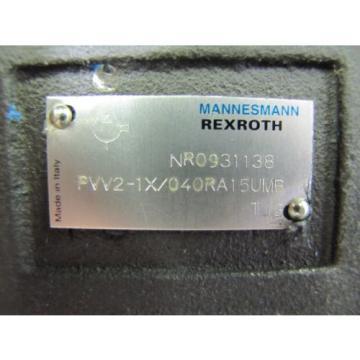 "NEW Dutch Australia MANNESMANN REXROTH PVV2-1X/040RA15UMB ROTARY VANE HYDRAULIC PUMP 1"" 1-1/2"""