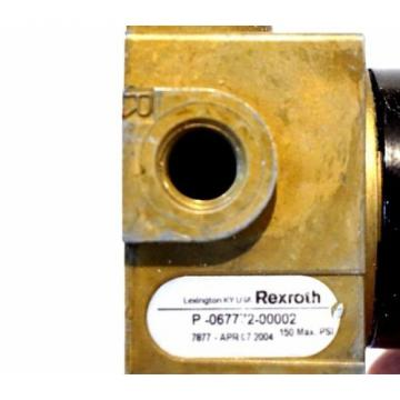 REXROTH Mexico USA P-067772-00002 PNEUMATIC VALVE P06777200002