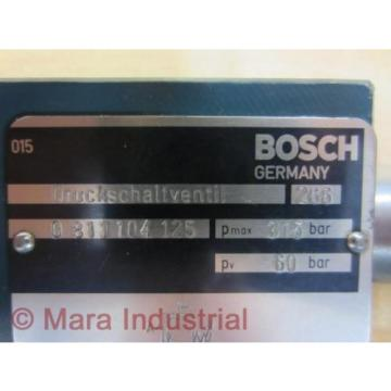 Rexroth Egypt Italy Bosch Group 0 811 104 125 0811104125 Pressure Valve - New No Box