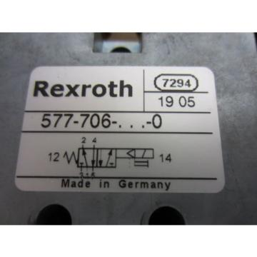 Rexroth Greece Canada Bosch Group 577-706-022-0 Solenoid Operated Valves - Used