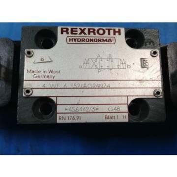 USED Greece France REXROTH 4WE6E52/AG24NZ4 DIRECTIONAL VALVE 4 WE 6 E52/AG24NZ4 (U4)