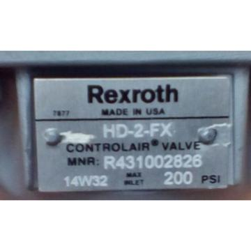 Rexroth Australia Mexico ControlAir Valve Model HD-2-FX R431002826 P50970-4