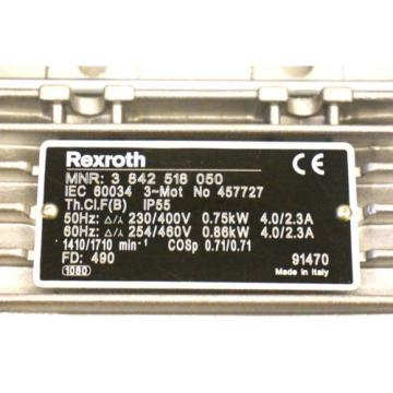 NEW Canada USA REXROTH 3 842 518 050 AC MOTOR 457727 3842518050