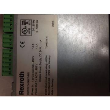 REXROTH USA Dutch INDRAMAT DKC02.3-040-7-FW SERVO AXIS DRIVE DKC02.30407FW