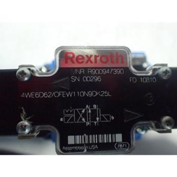 NEW Canada Dutch REXROTH R900947390 HYDRAULIC VALVE,4WE6D62/OFEW110N9DK25L,R978912400,BOXZT
