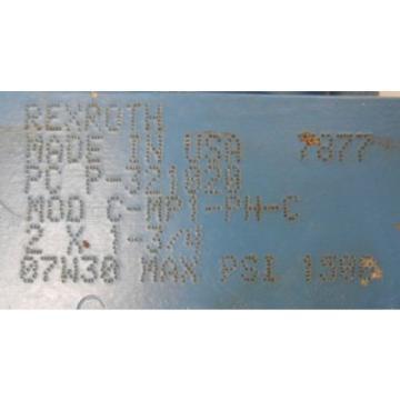 "REXROTH, India Singapore BOSCH, HYDRAULIC CYLINDER, P-321020, MOD C-MP1-PH-C, 2"" X 1-3/4"""