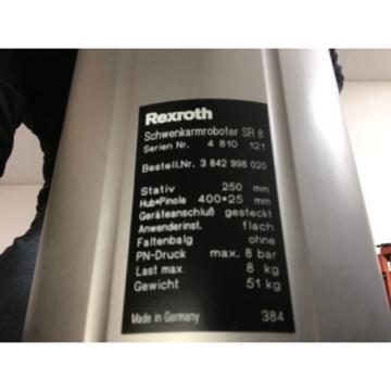 Rexroth Australia Canada Bosch turbo scara SR8 plus Schwenkarmroboter Neuwertig ohne Steuerung