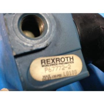 USED Mexico Canada REXROTH P67772-2 CONTROL VALVE AND BIMBA FLAT-1 FS-501.5 CYLINDER (G2)