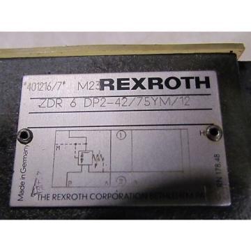 Rexroth Canada Italy ZDR 6 DD2-42/75YM/12 Valve NEW