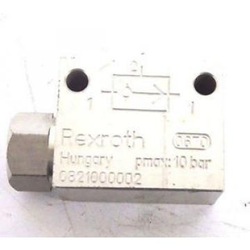 NEW Japan Germany BOSCH REXROTH 0821000002 SHUTTLE VALVE