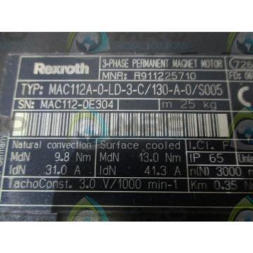 REXROTH Japan India MAC112A-0-LD-3-C/130-A-0/S005 PERMANENT MAGNET MOTOR *NEW NO BOX*