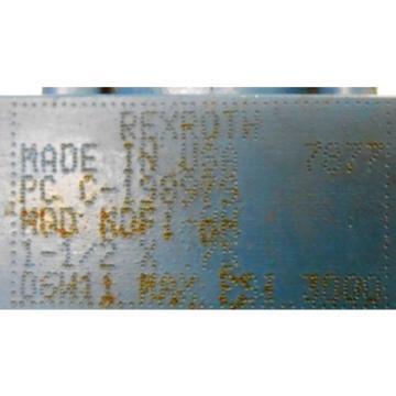 """REXROTH, Mexico Russia BOSCH, HYDRAULIC CYLINDER, C-198979, MOD MDF1-HH, 1-1/2"""" X 3/4"""""""
