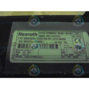 REXROTH China Dutch MSK060C-0300-NN-M1-UP0-NNNN SERVO MOTOR *NEW NO BOX*