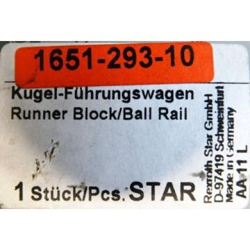 Rexroth Russia Greece Star 1651-293-10 Kugel-Führungswagen Runner Block/Ball Rail -unused/OVP-