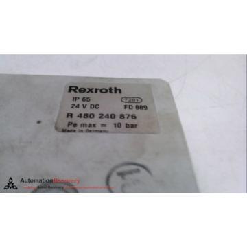REXROTH India Singapore R 480 240 876, PNEUMATIC MANIFOLD END BLOCK, 24 VDC, 10 BAR #231346