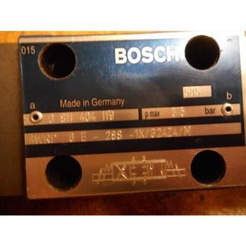 Bosch Korea India 0811404119 4WRP 6E-28S-1X/G24Z4/M Valve W/ 0831006057 Coil 9VDC 2,45A