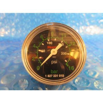 Rexroth Greece china 1 827 231 010 Pressure Gauge New in Box, Manometer, 0-200 PSI,  0-16 Bar