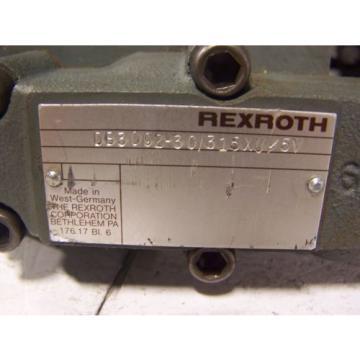 NEW Greece Australia REXROTH HYDRAULIC VALVE DB30G2-30/315XU/5V  REXROTH  DB30G2