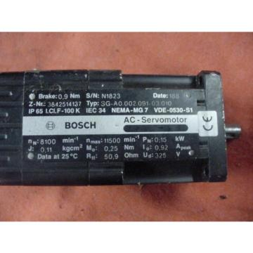 Lot Australia Greece of 3 Bosch Rexroth A/C Servo Motors  Free Shipping!
