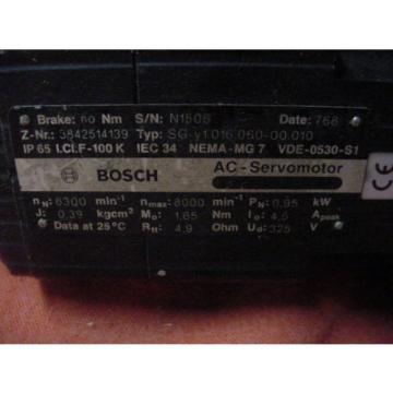 Lot Australia Greece of 3 Bosch Rexroth A/C Servo Motors  Free Shipping!