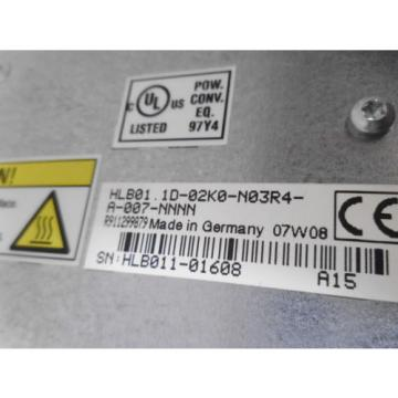 REXROTH Canada Australia HLB01.1D-02K0-N03R4-A-007-NNNN DRIVE POWER BREAK MODULE *NEW NO BOX*