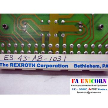 [Rexroth] Canada France VT1600S3X Servo Amplifier Used Fast Shipping 3~5 days