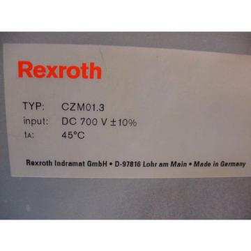 Rexroth Australia Singapore Indramat CZM01.3-02-7 Eco-Drive Servo Drive Auxiliary Capacitance Module
