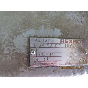 REXROTH Korea Canada FLOW CONTROL MSA30EP160 USED