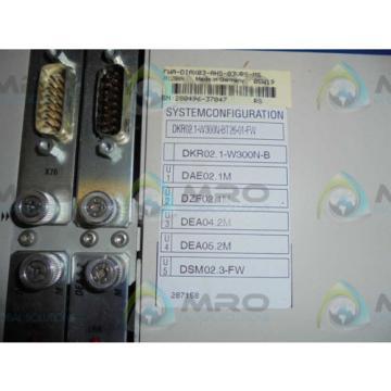 REXROTH France India INDRAMAT DKR02.1-W300N-BT26-01-FW SERVO DRIVE *NEW IN BOX*