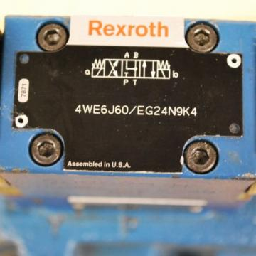 Rexroth Greece USA 4WEH22J74/6EG24N9ET, #ZDR6DP2-43/75YM/12, #4WE6J60/EG24N9K4 Assembly.