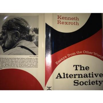 THE Australia France ALTERNATIVE SOCIETY BY KENNETH REXROTH *INSCRIBED*FIRST ED*