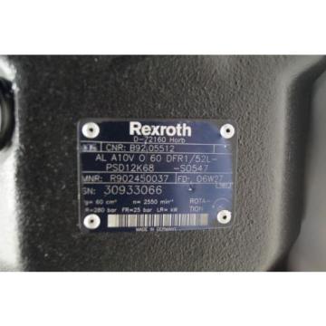 Rexroth Singapore Japan Hydraulikpumpe A10V060 DFR1/52L   Load sensing R902450037