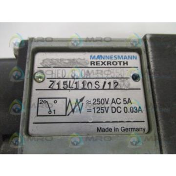 MANNESMANN Germany Canada REXROTH HED80A11/350Z15L/110S/12 PRESSURE WITCH *NEW NO BOX*