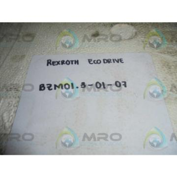 REXROTH Canada Canada BZM01.3-01-07 ECODRIVE *NEW IN BOX* AS IS