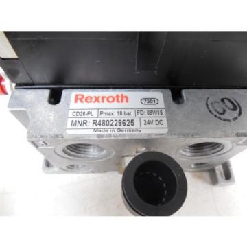 USED Australia Dutch Rexroth R480229625 CD26-PL Pneumatic Valve Bank Module 576351...0