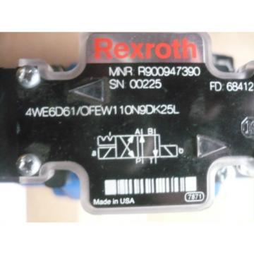 New Australia Russia Rexroth R978912400 H-4WEH25HD64/OF6EW110N9ETDK25L Valve