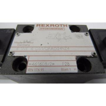 REXROTH Italy India 4 WE 6 D51/OFAG24NZ4 F28 24V DC 26W HYDRONORMA VALVE * USED *