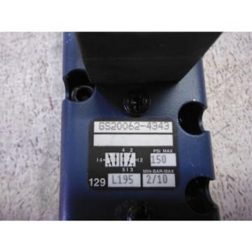REXROTH Russia USA GS20062-4343 DIRECTIONAL VALVE USED