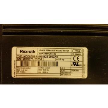 Rexroth Canada USA 3-Phase Permanent Magnet Motor MDD071B-N-040-N2S-095GA0