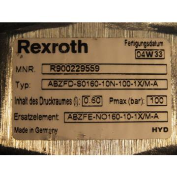REXROTH Japan Singapore  ABZFD-S0160-10N-100-1X/M-A