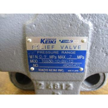 TOKYO Australia USA KEIKI PRESSURE RELIEF VALVE WITH REXROTH SLENOID VALVE TCG30-10-BV-12