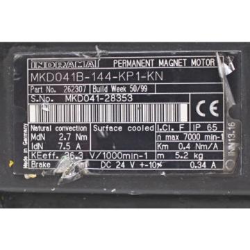 Bosch China Egypt Indramat/ Rexroth MKD041B-144-KP1-KN Servomotor