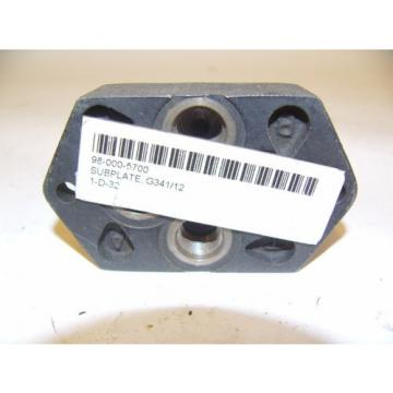 BOSCH Germany Canada REXROTH SUBPLATE 98-000-5700 G34 1/12 NEW!!! (F233)