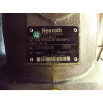 REXROTH India France AXIAL HYDRAULIC PUMP A6VM107DA5X MADE IN GERMANY COUNTER CLOCKWISE NEW