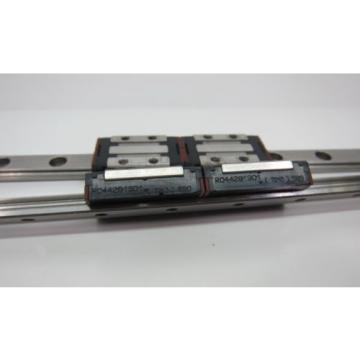 Pair China Japan of Rexroth 7210 Dual Block RO44281301 + 330mm Slide Rail